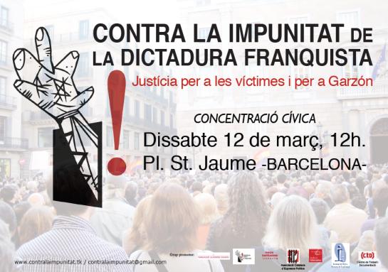 Flyer Plataforma contra la impunitat