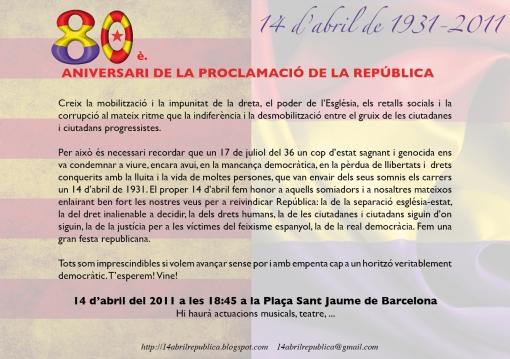 invitació 14 d'abril de 2011