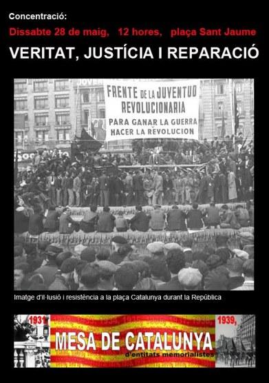 20a concentració per a la Veritat, la Justícia i la Repació a plaça St. Jaume