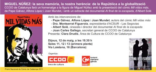 Invitació homenatge Miguel Núñez